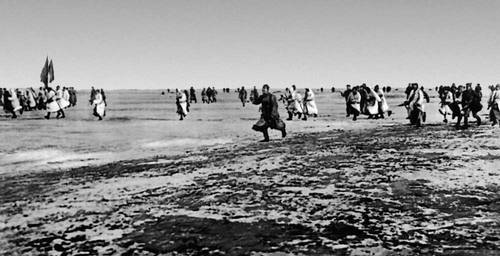 Наступление советских войск по льду Финского залива на мятежный Кронштадт. Март 1921.