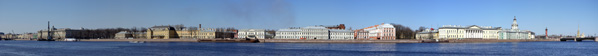Панорамный вид на Васильевский остров.