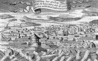 Наводнение в Петербурге. Гравюра начала XVIII века