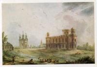 Чесменский дворец, акварель Балтазара де ла Траверса, конец XVIII века
