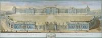 Екатерининский дворец, середина XVIII века. Изометрический план с высоты птичьего полёта