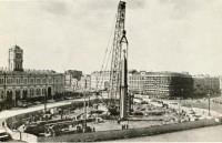 Возведение Обелиска «Городу-герою Ленинграду» на площади Восстания в 1985 году