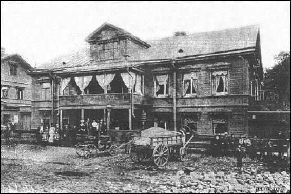 Трактир «Красный кабачок» на Петергофской дороге, фотография 1907 года