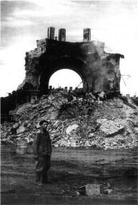 Греческая церковь Дмитрия Солунского, фото Кудрявцева, 1962 год, после взрыва