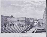 Подготовительные работы, перед установкой пьедестала Александровской колонны на Дворцовой площади