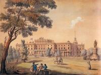 Михайловский замок, картина (до 1818 года — памятник Суворову ещё на первоначальном месте)