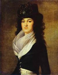 Анна Лопухина, портрет. Холст, масло
