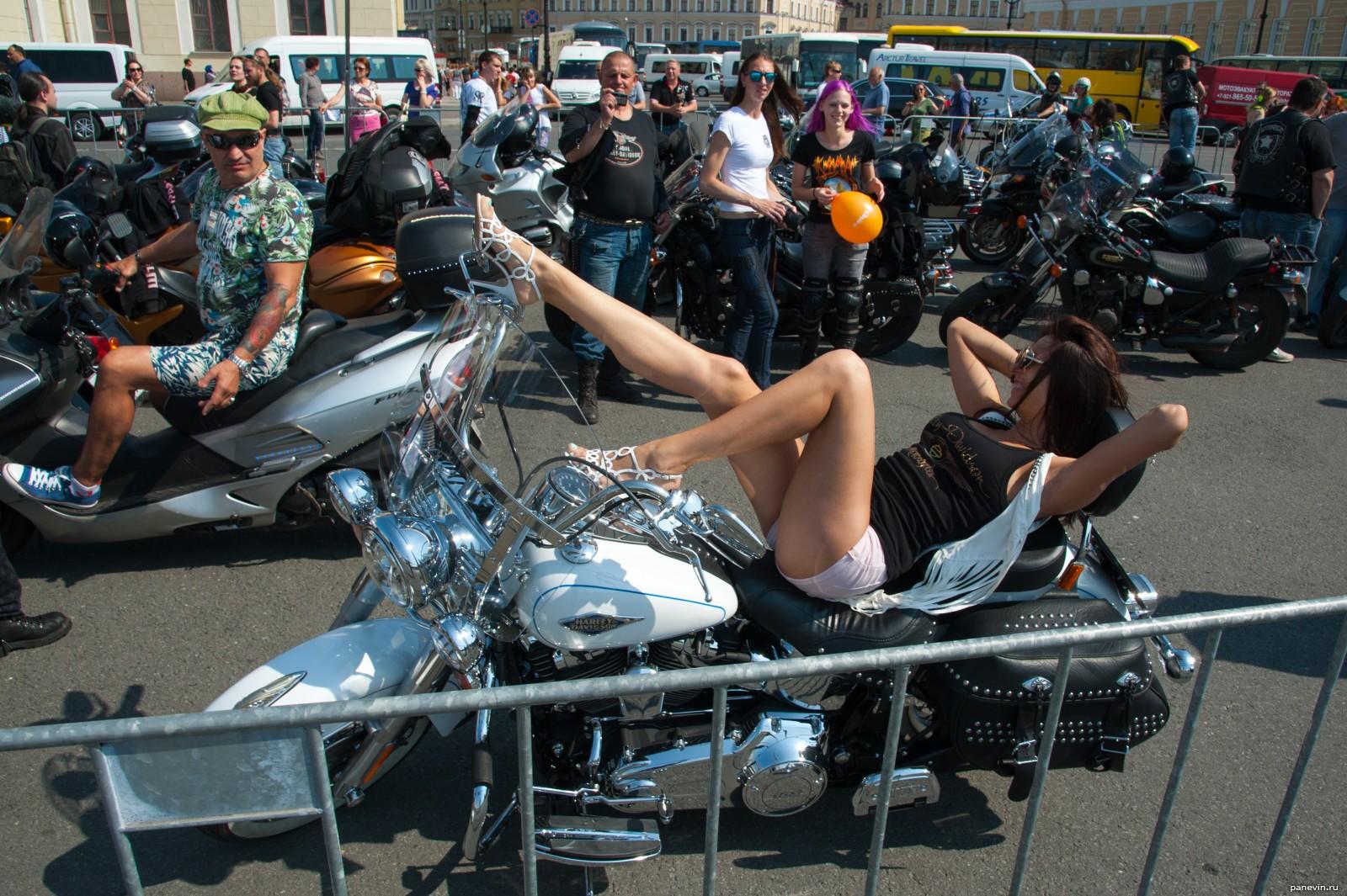 Девушка на байке фото - Дни Harley Davidson - Фотографии ...: http://panevin.ru/photo/harley-days/devushka_na_bayke.html
